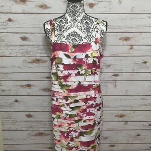 Dress barn floral ruffle layer dress